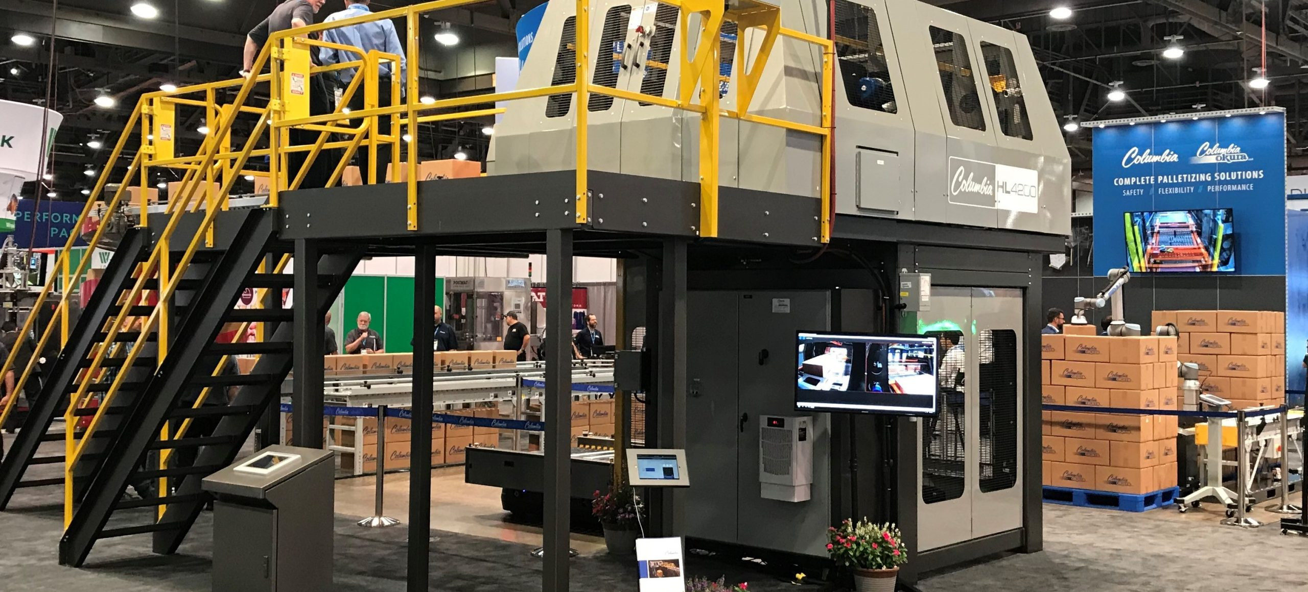 Image of a HL4200 High Level Palletizer at Pack Expo Las Vegas 2019
